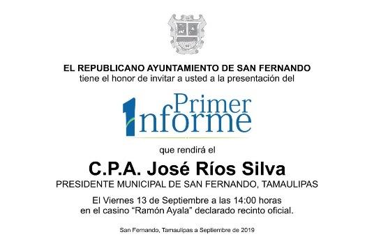 Todo listo para el Primer Informe de José Ríos