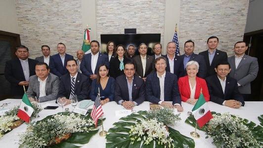 Refrenda Enrique Rivas a embajador de EU compromiso de NLD por la región