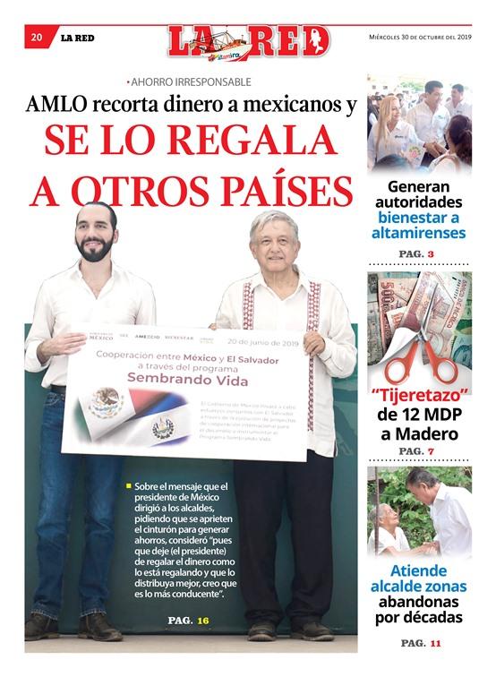 AMLO recorta dinero a mexicanos y se lo regala a otros países