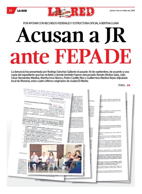 Acusan a JR ante FEPADE
