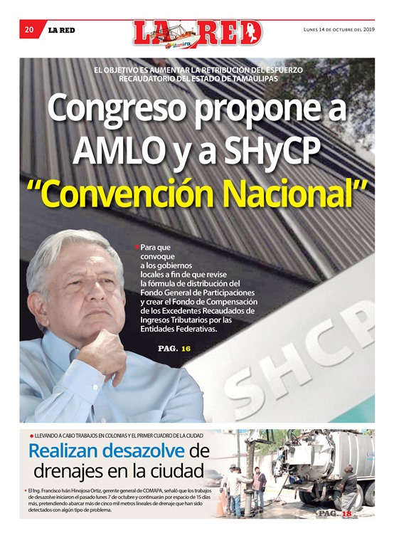 """Congreso propone a AMLO y a SHyCP """"Convención Nacional"""""""