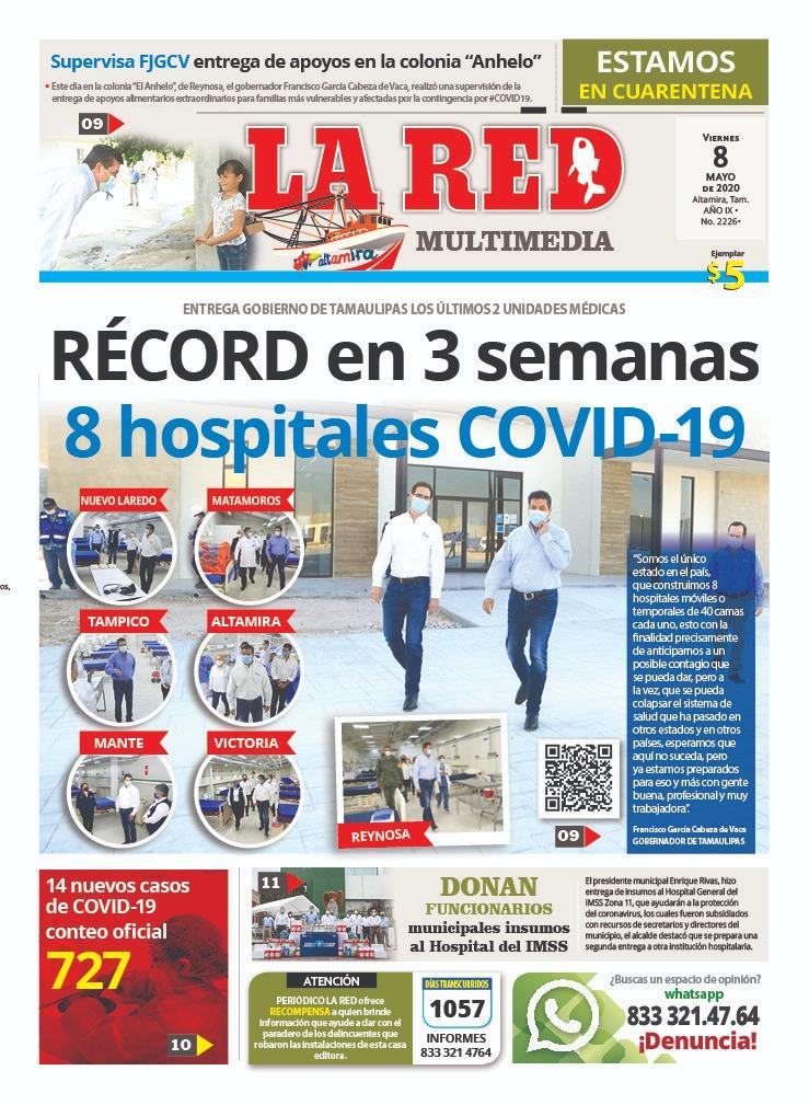 RÉCORD en 3 semanas 8 hospitales COVID-19