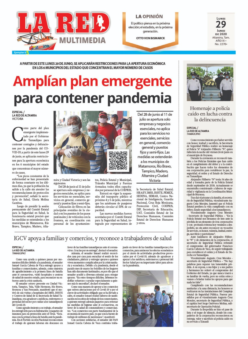 Amplían plan emergente para contener pandemia