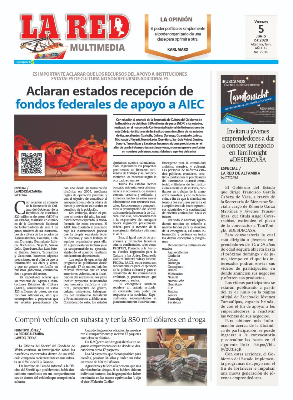 Aclaran estados recepción de fondos federales de apoyo a AIEC