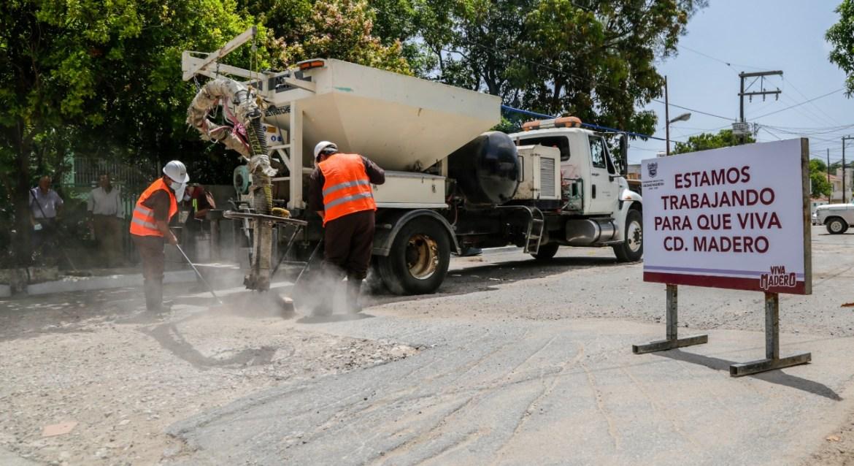 Fuerte impulso a obra  pública en Madero