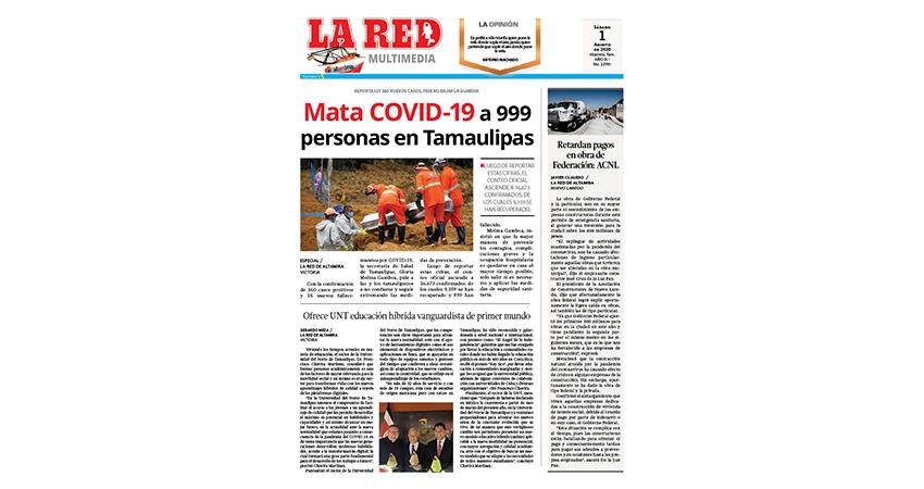 Mata COVID-19 a 999 personas en Tamaulipas