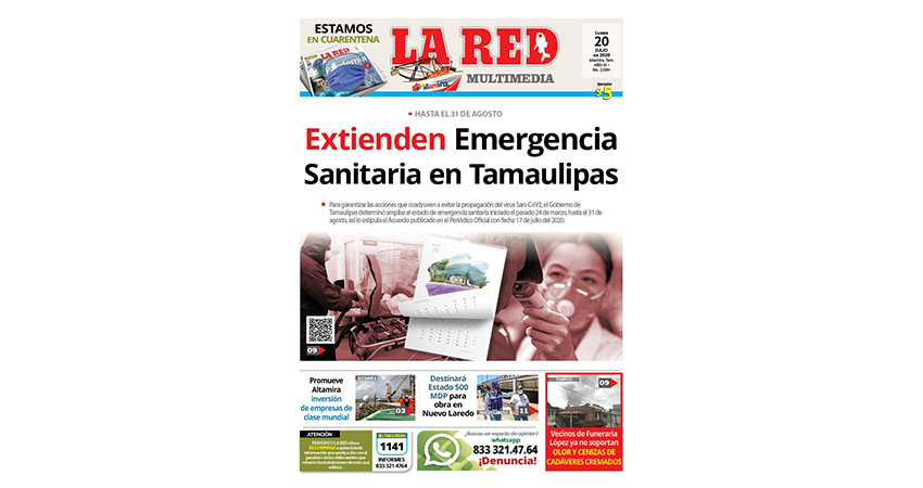 Extienden Emergencia Sanitaria en Tamaulipas