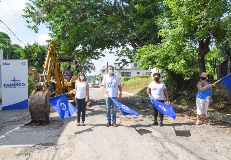 Arrancan en Tampico más obras de pavimentación