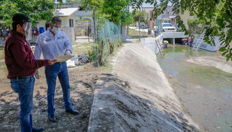 Aceleran mantenimiento de los 76 drenes pluviales