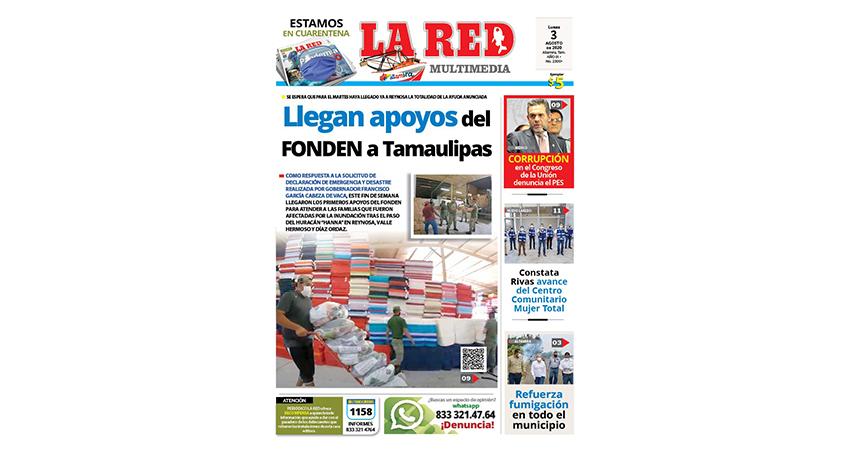 Llegan apoyos del FONDEN a Tamaulipas