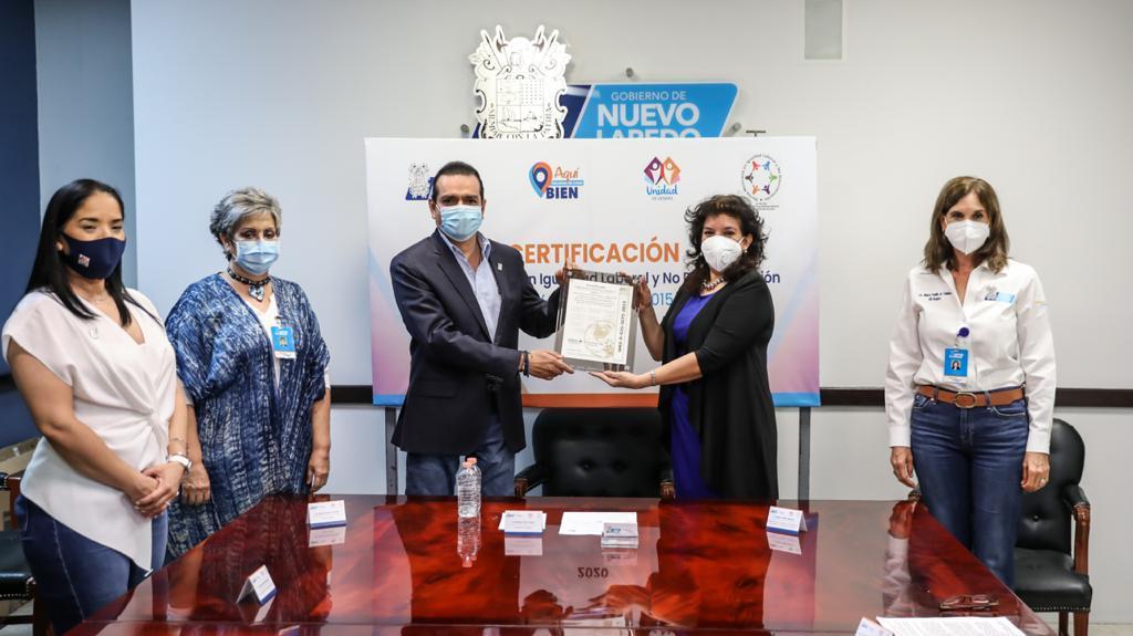 Refrenda NLD certificación en grado Oro en igualdad laboral