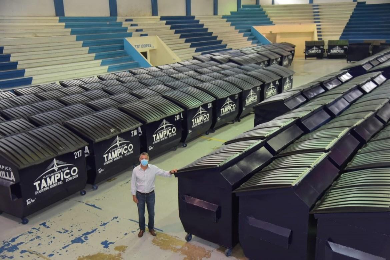 Refuerzan recolección de basura en Tampico