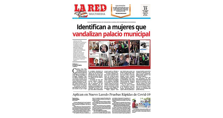 Identifican a mujeres que vandalizan palacio municipal