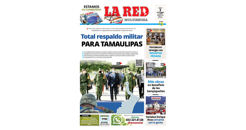 Total respaldo militar para Tamaulipas
