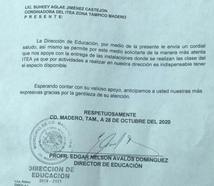 """Dejará ITEA oficinas del """"Américo Villarreal"""""""