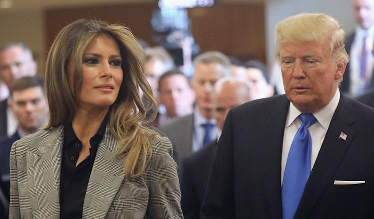 El presidente Donald Trump tuitea que él y la primera dama Melania Trump dan positivo por Covid-19