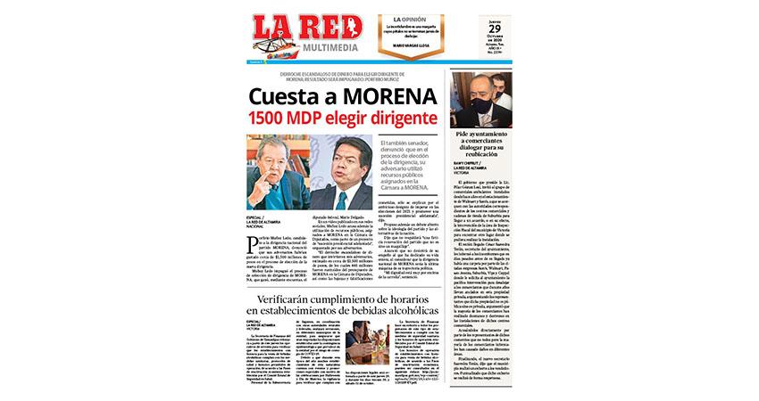 Cuesta a MORENA 1500 MDP elegir dirigente