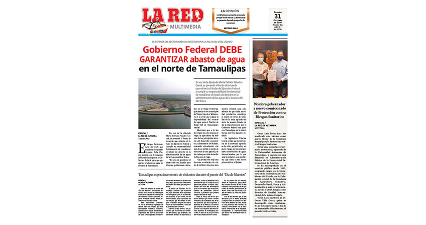 Gobierno Federal DEBE GARANTIZAR abasto de agua en norte de Tamaulipas
