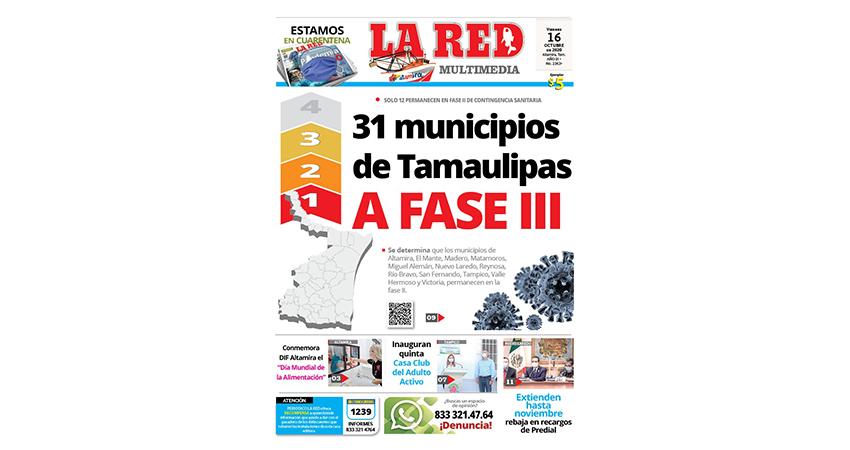 31 municipios de Tamaulipas a Fase III