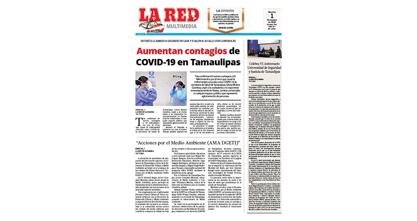 Aumentan contagios de COVID-19 en Tamaulipas
