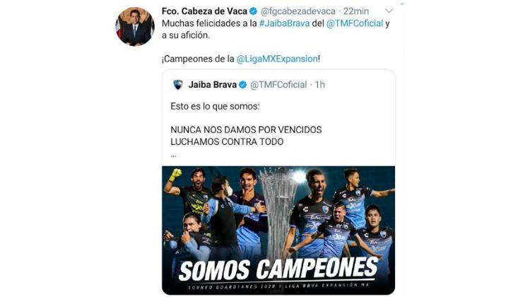 LA JAIBA ES CAMPEÓN DE LA LIGA EXPANSION MX.