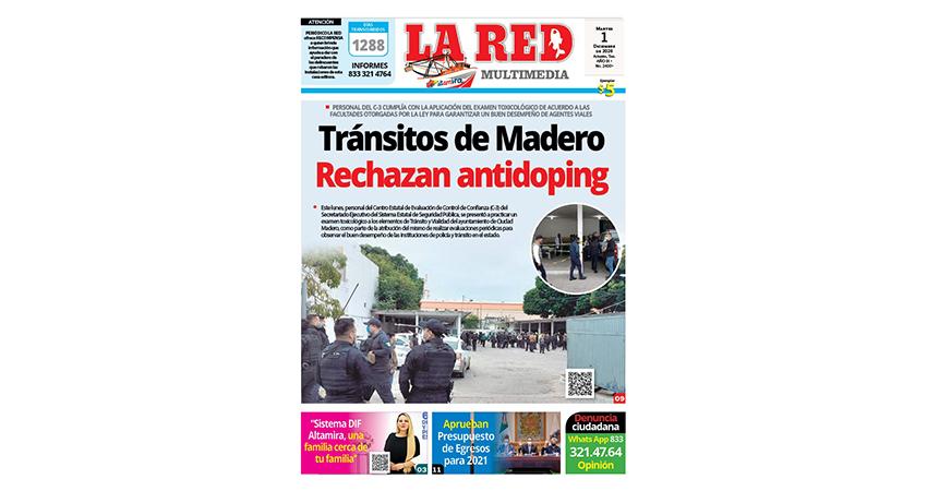 Tránsitos de Madero rechazan prueba antidoping
