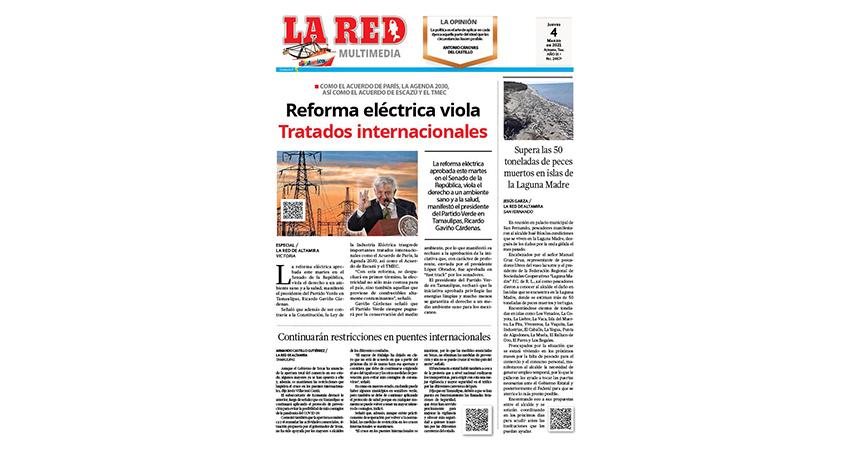Reforma eléctrica viola tratados internacionales