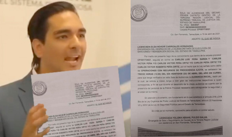 DESACATAN CARLOS PEÑA PADRE E HIJO SEGUNDO CITATORIO DEL JUEZ.