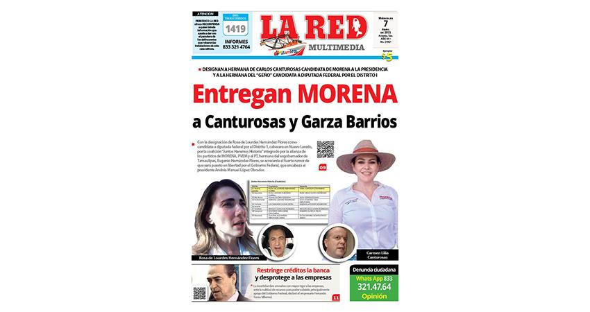 Entregan MORENA a Canturosas y Garza Barrios
