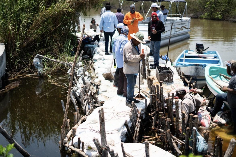 Concluyen reparación del Estero el Camalote