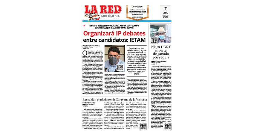 Organizará IP debates entre candidatos: IETAM