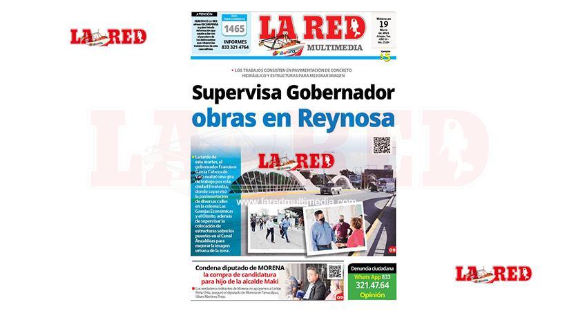 Supervisa gobernador obras en Reynosa