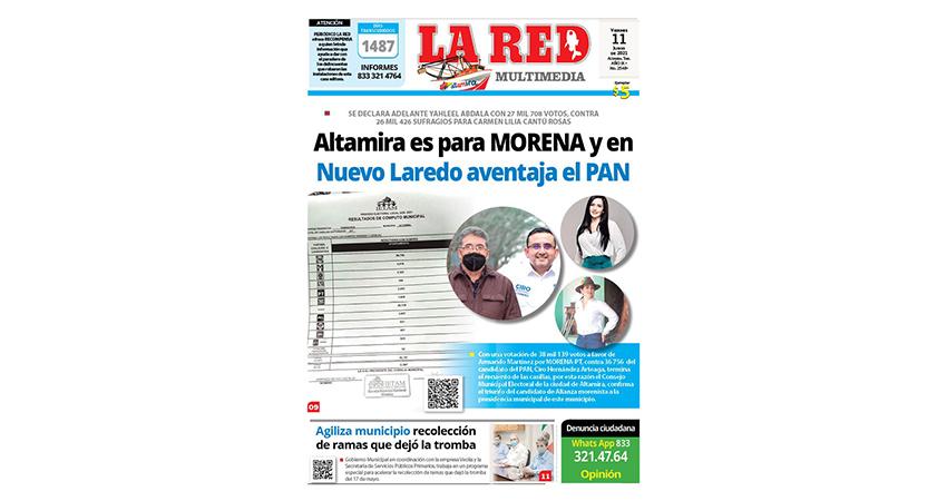 Altamira es para MORENA y en Nuevo Laredo aventaja el PAN