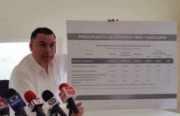 2022 año austero para Tamaulipas, 500 MDP menos para próximo año fiscal