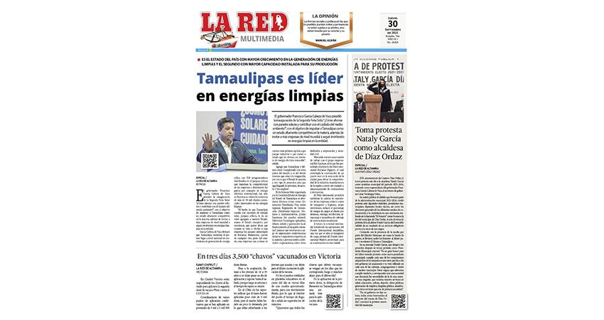Tamaulipas líder en energías limpias