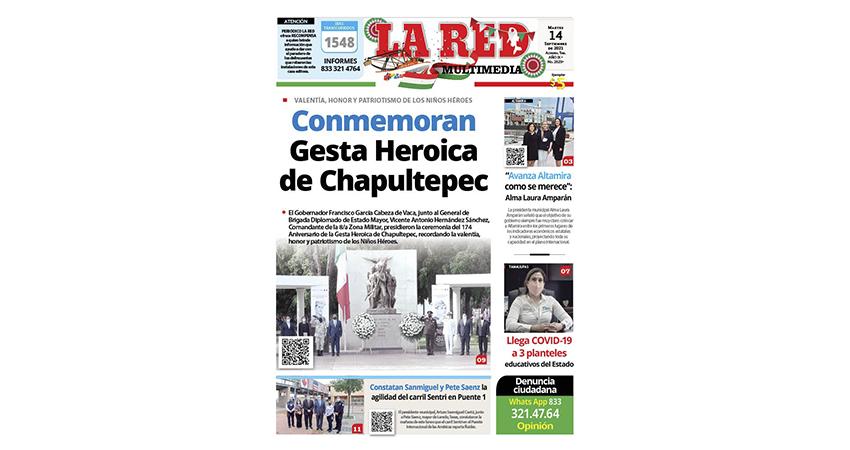 Conmemoran 174 Aniversario de la Gesta Heroica de Chapultepec