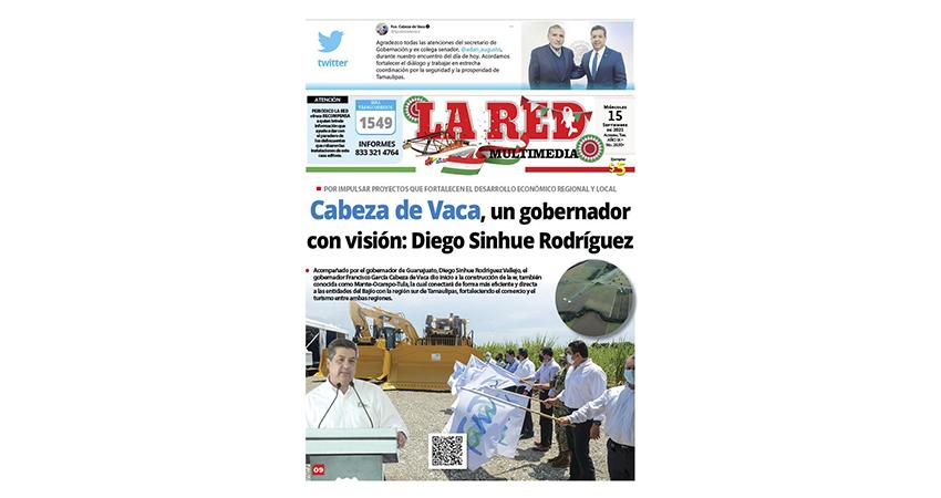 Cabeza de Vaca, un gobernador con visión: Diego Sinhue Rodríguez