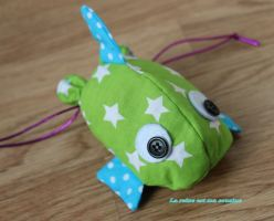 pochette poisson vert