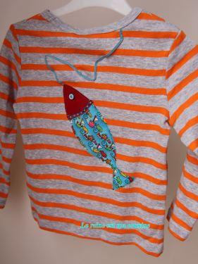t-shirt poisson d'avril bleu