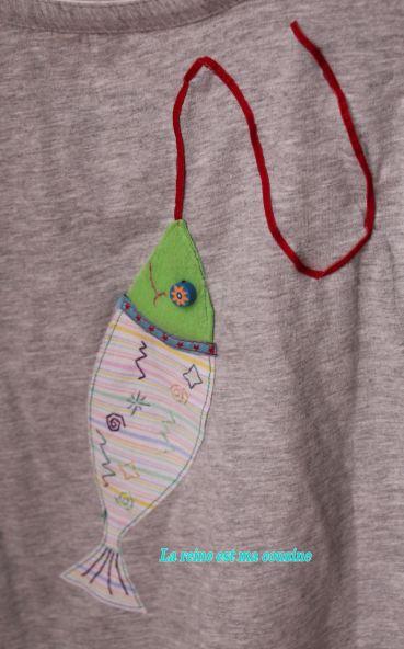 t-shirt poisson d'avril vert