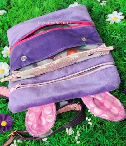 pochette Monstre violet