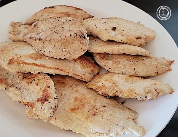 Cooked Chicken slices