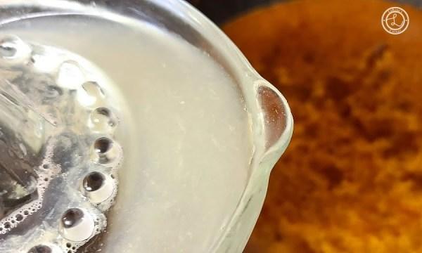 Adding in the lemon juice