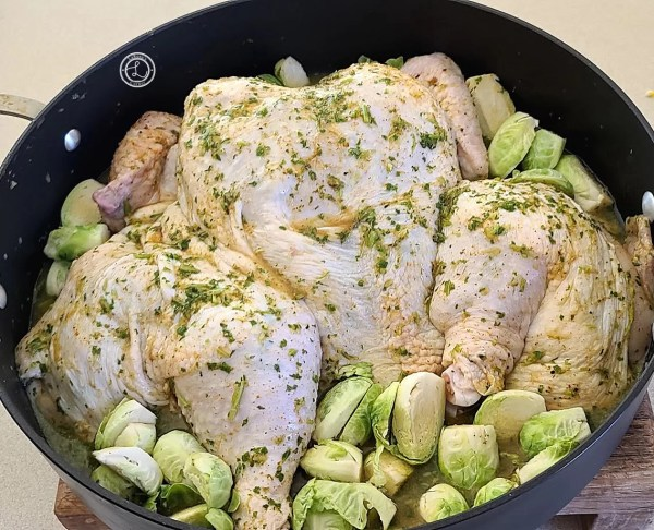 Chicken ready to be baked