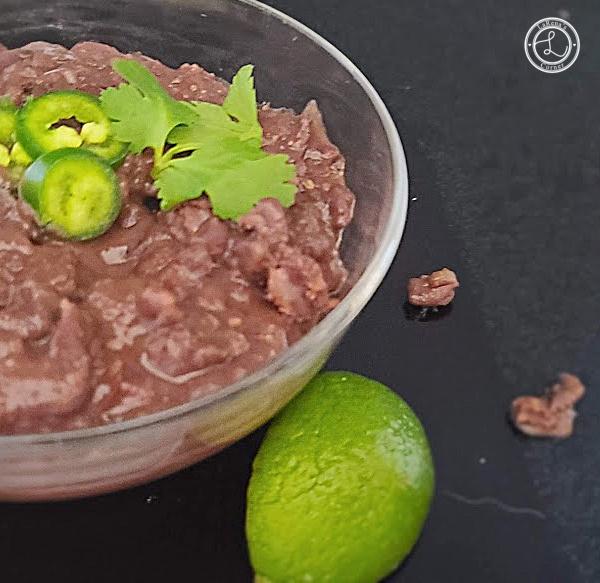 A bowl of Refried Jalapeno Black Beans Recipe