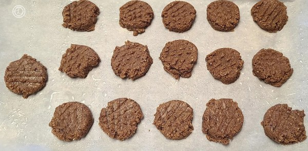 Flattened out cookies