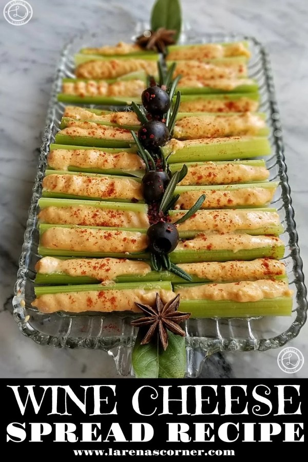 Celery Sticks with Wine Cheese Spread