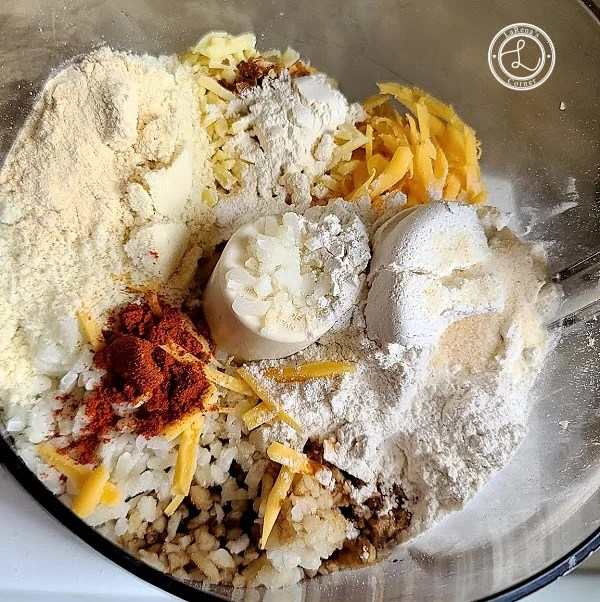 Ingredients for large crust pizza