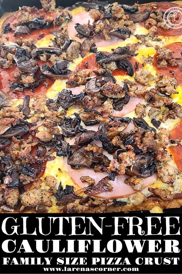 A large family size Gluten-Free Family Size Pizza-Crust