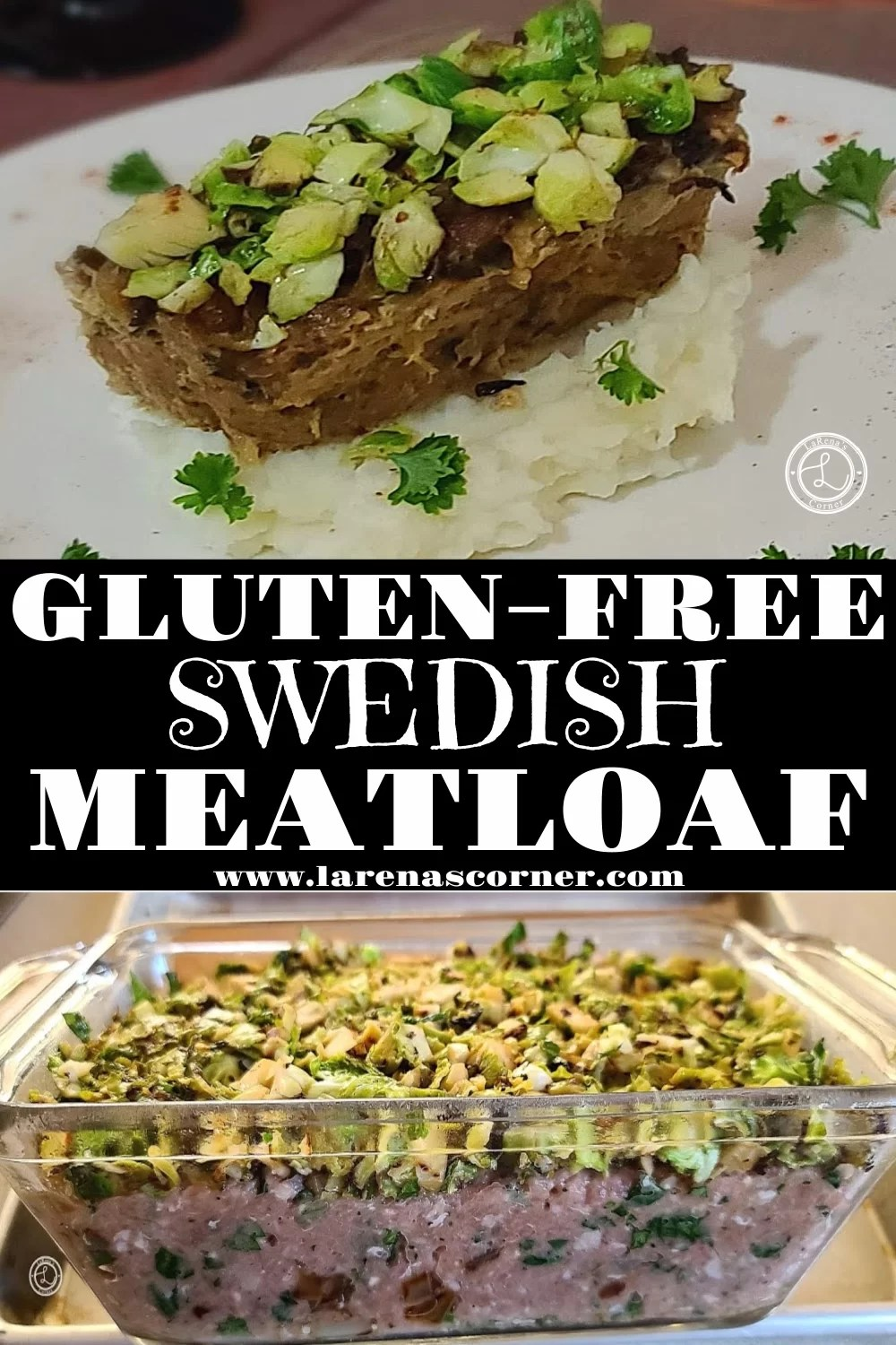 Two pictures of Swedish American Meatloaf